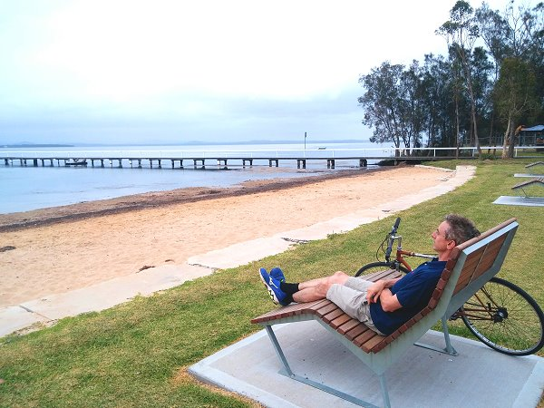 Lounge chairs at Long Jetty photo