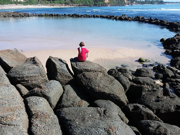 Photo Rock pool, Cabbage Tree Bay